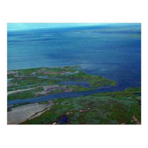 Noatak River Delta - Aerial View Postcard