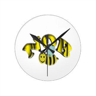 nob bee round clock