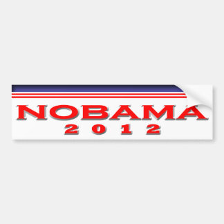 Nobama 2012 car bumper sticker