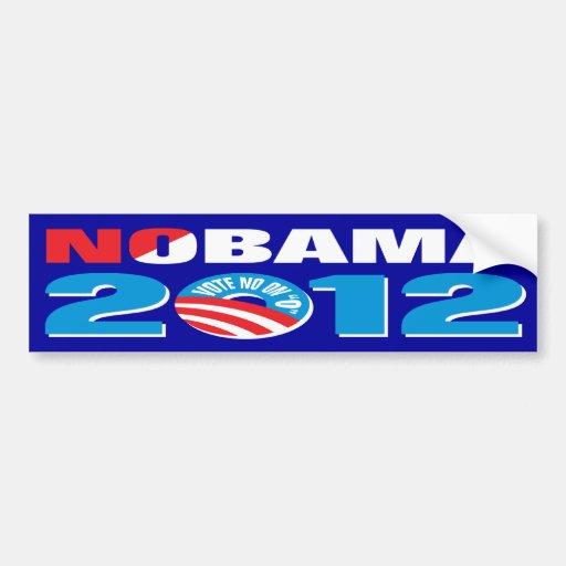 Top Logo Design political logo maker : NOBAMA 2012 CAR BUMPER STICKER : Zazzle