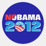 NOBAMA 2012 CLASSIC ROUND STICKER