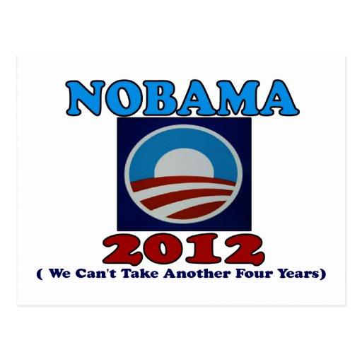 NOBAMA 2012 con el logotipo Postales