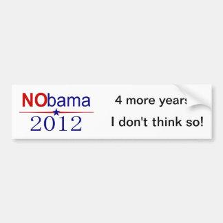 NObama 2012 election Car Bumper Sticker