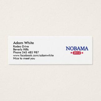 Nobama 2012 election mini business card