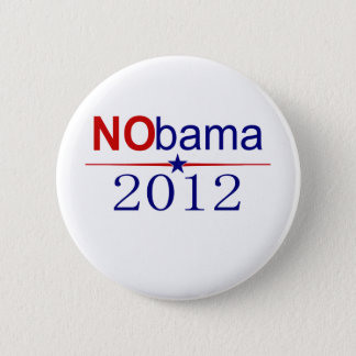 NObama 2012 election Pinback Button