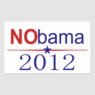 NObama 2012 election Rectangular Sticker