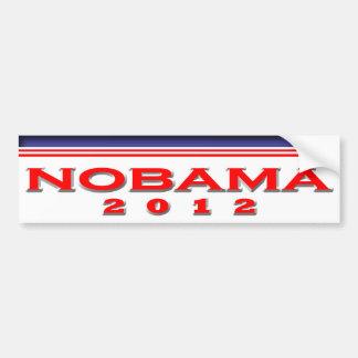 Nobama 2012 pegatina para auto