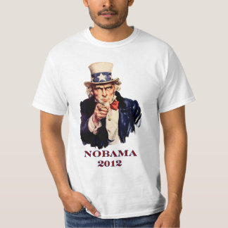 "NOBAMA 2012 ""tío Sam "" Playera"