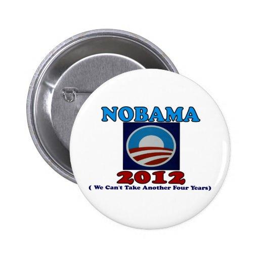 NOBAMA 2012 with Logo Button