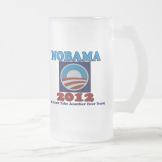 NOBAMA 2012 with Logo Frosted Glass Beer Mug