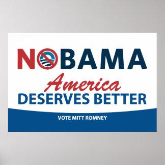 NOBama America Deserves Better Poster