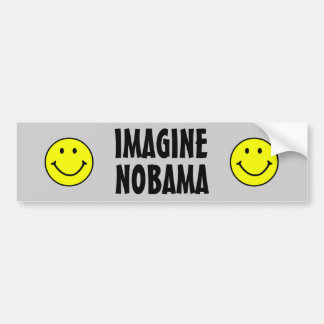Nobama anti de Obama Pegatina Para Auto