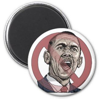 Nobama Anti Obama Circle Slash Gear 2 Inch Round Magnet