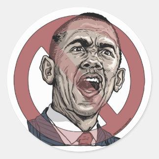 Nobama Anti Obama Circle Slash Gear Round Stickers