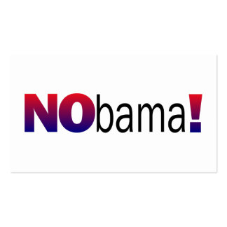 Nobama Anti-Obama Double-Sided Standard Business Cards (Pack Of 100)