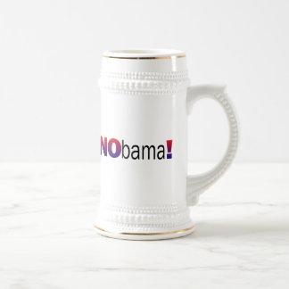Nobama Anti-Obama Jarra De Cerveza