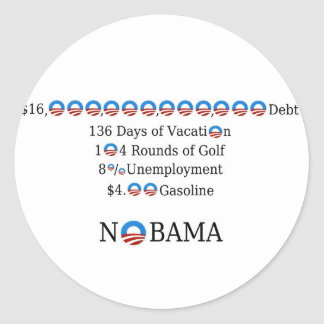 NObama By The Numbers Stickers