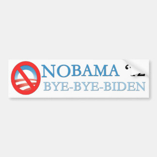 NOBAMA BYE-BYE-BIDEN '12 CAR BUMPER STICKER
