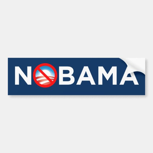Nobama circle-slash O Logo Bumper Sticker