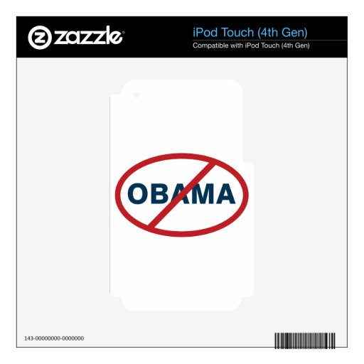 nObama! Decal For iPod Touch 4G