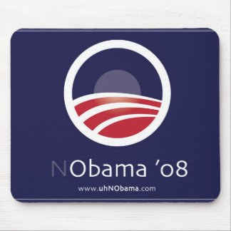 NObama for President 08 Election Mouse Pad