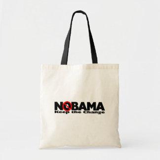 NoBama: Guarde el cambio Bolsa Tela Barata