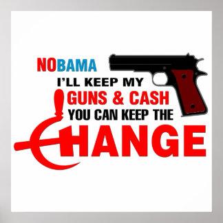 NOBAMA - ¡Guarde el cambio! Póster