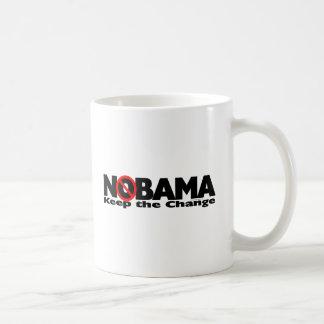 NoBama: Guarde el cambio Taza Clásica