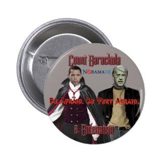 Nobama Halloween-Barackula y botón de Biden Pin
