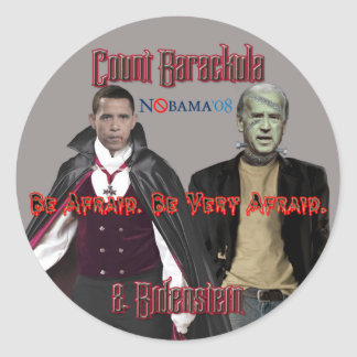 Nobama Halloween - pegatinas de Barackula y de Etiqueta Redonda