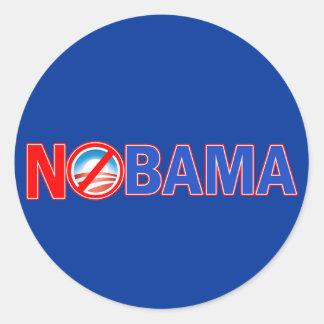 Nobama Hats, Mugs, Hoodies, T shirts Round Stickers