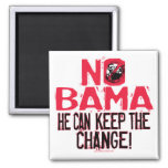 Nobama Keep the Change 2 Inch Square Magnet