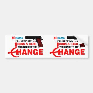 Nobama - Keep The Change! Car Bumper Sticker