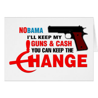 Nobama - Keep The Change! Cards