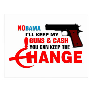 Nobama - Keep The Change! Post Cards