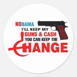 Nobama - Keep The Change! Sticker