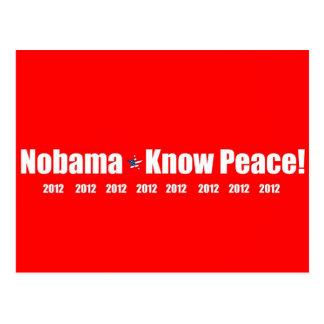 Nobama, Know Peace! 2012 Postcard