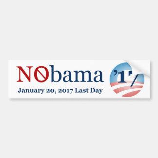 NObama Last Day January 20, 2017 Bumper Sticker