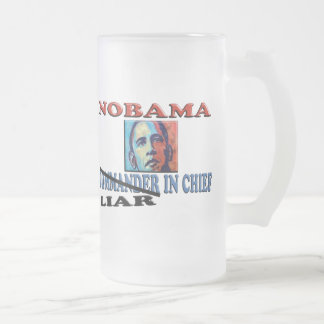 NOBAMA Liar In Chief Frosted Glass Beer Mug