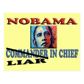 NOBAMA Liar In Chief Postcard