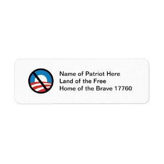 Nobama Logo Return Address Sticker