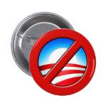 NOBAMA ningún Obama Anti-Obama Pins