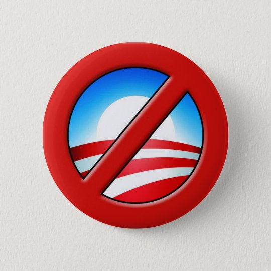 NOBAMA  No Obama Anti-Obama Button