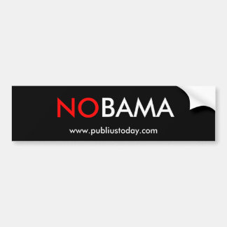 NOBAMA - (NO Obama) Bumper Sticker