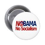 NOBAMA no socialism Pinback Buttons
