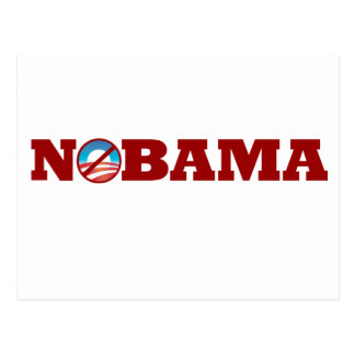 NOBAMA Obama 2012 Postcard
