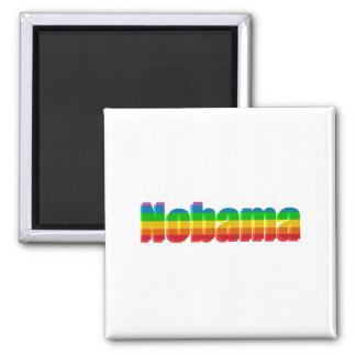 Nobama Rainbow Political Gifts Refrigerator Magnet