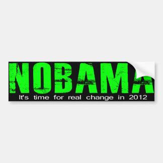 NOBAMA Real change Bumper Sticker