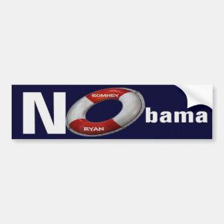 Nobama Romney Ryan 2012 Lifesaver Bumper Sticker Car Bumper Sticker