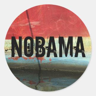 NOBAMA ROUND STICKER